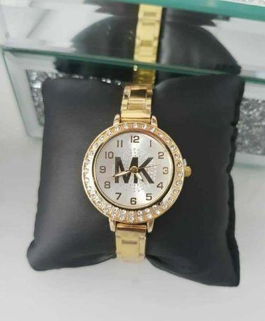 Złoty zegarek Michael Kros bogato zdobiony