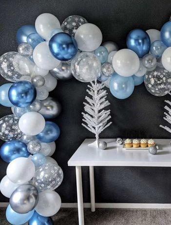80 balões Festa Aniversário Azul