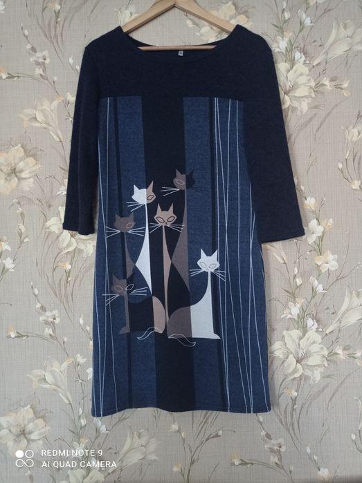 Новое женское платье с интересным рисунком. Запорожье - изображение 1
