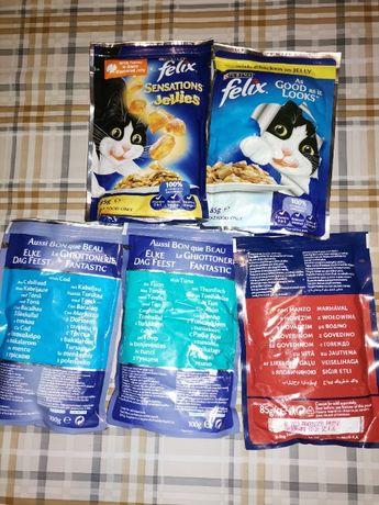 Sprzedam karmę dla kota Purina Felix i Purina Gourmet.