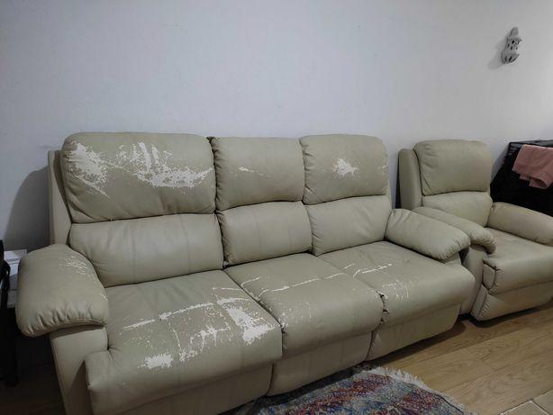 Conjunto de sofás reclináveis