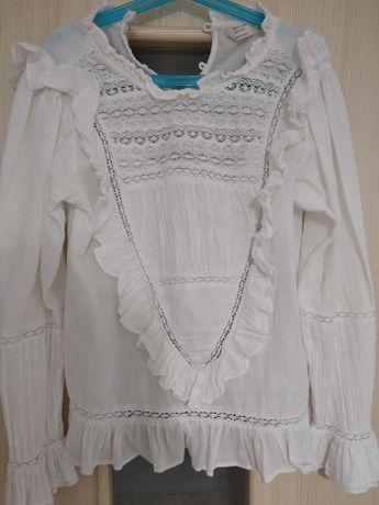 Bluzka koszula koronka Zara 140 cm