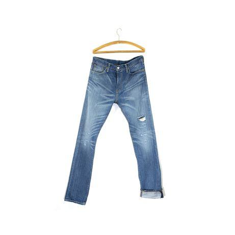 Spodnie biodrówki Levi's 508 W 33 L 34 regular fit tapper przecierane