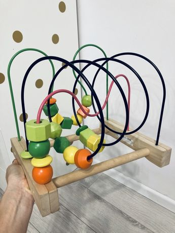 MULA ikea zabawka edukacyjna przekładanka drewniana
