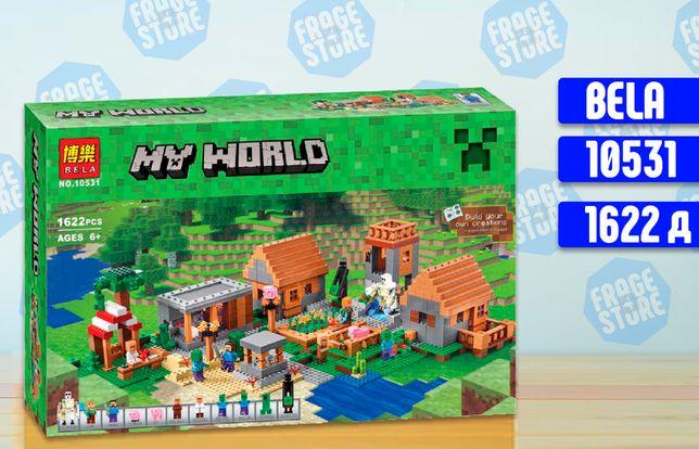 """Конструктор Bela Minecraft 10531 """"Деревня"""", 1622 д, аналог Lego 21128"""