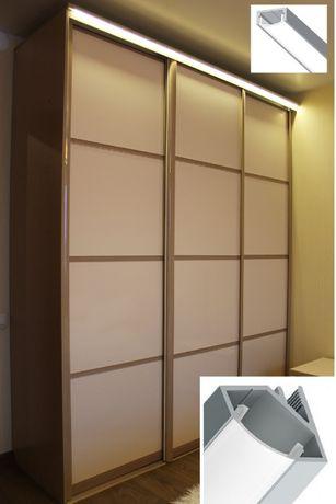 Мебельный алюминиевый профиль для светодиодная подсветки шкафа кухни