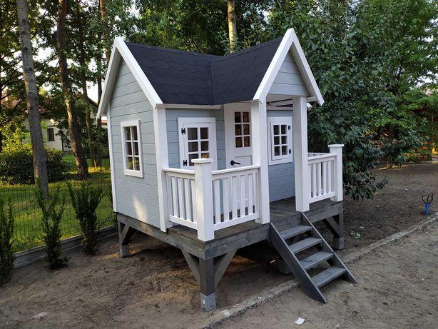 Niepowtarzalny drewniany domek dla dzieci, domek ogrodowy