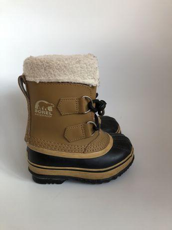 Sniegowce Sorel dla dziecka. Buty zimowe mega cieple dzieciece rozm.25