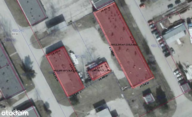 Hala przemysłowa w Nowinach (strefa przemysłowa)