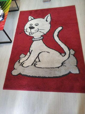 Dywan Twingo Kot (gruby), bordowy,siwy,biały,czerwony