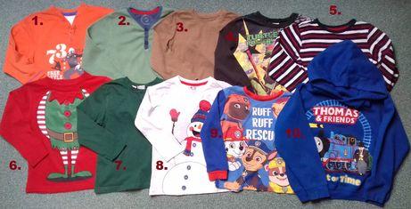 Bluzeczki-podkoszulki-bluza3-4lata,4-6lat PsiPatrol,Święta,Tomek,