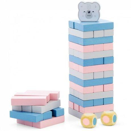 Wieża jenga klocki dla dzieci drewniana