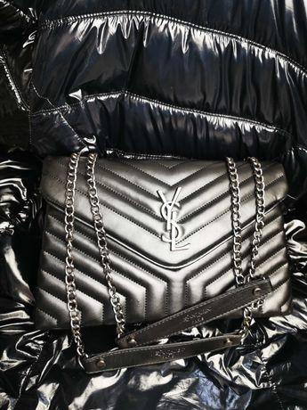 Torebka College Yves Saint Laurent YSL nowość logowana premium torba