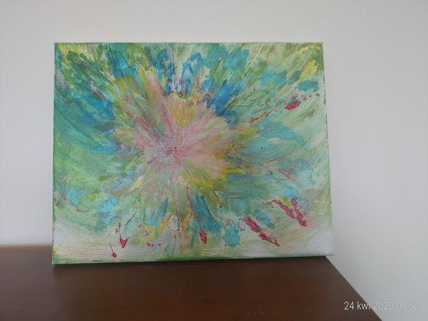 Obraz  Abstrakcja :Młody kwiat