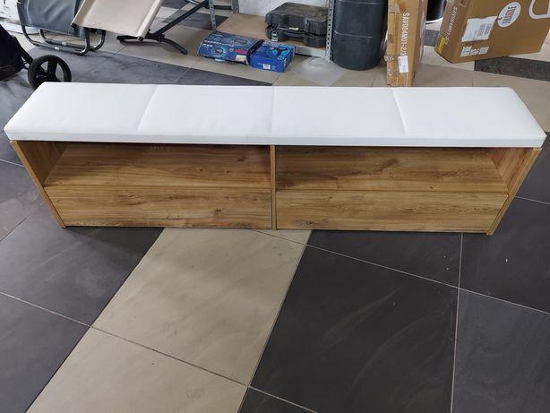 Komoda z siedziskiem drewniana z szufladami / schowek ławka 185cm NOWA