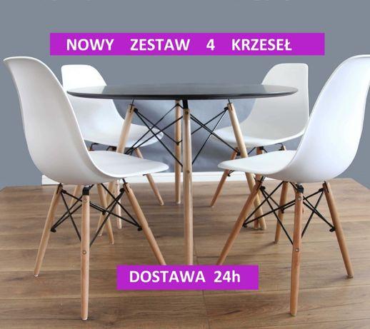 zestaw x 4 krzesło nowoczesne skandynawskie LUGANO zestaw krzesła