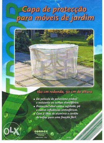 Capa protecção móveis jardim redonda nova