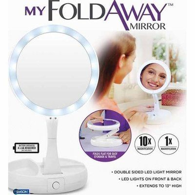 Зеркало Fold Away с подсветкой и увеличением +кабель в ПОДАРОК