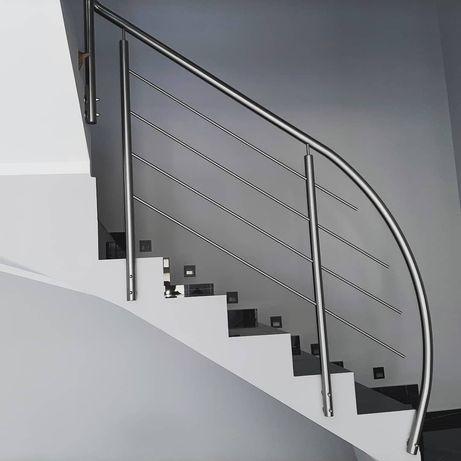 Balustrady nierdzewne, aluminiowe malowane proszkowe.