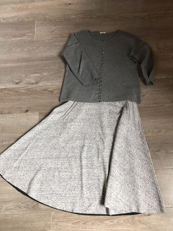 Sweterek Intimissimi i spódnica H&M