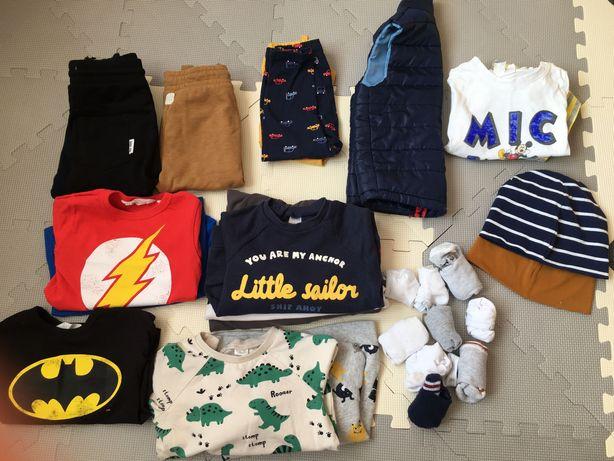 Paka ciuszków H&M roz 86 zestaw ubrań dla chłopca
