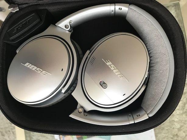 Słuchawki Bose quietcomfort 35 srebrne, jak nowe