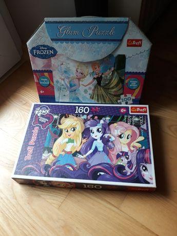 Zestaw puzzli dla dziewczynki 6 lat + kraina lodu equestria girls