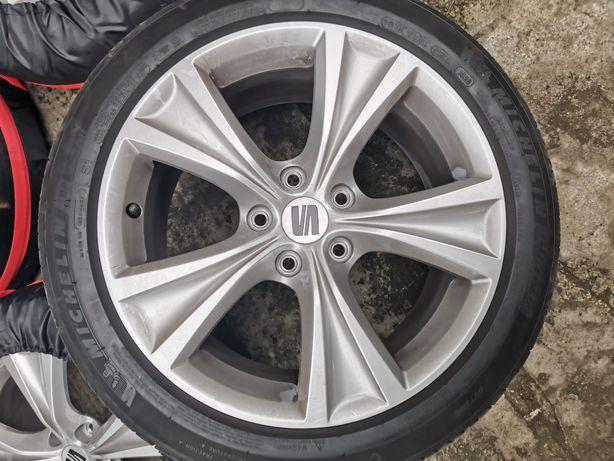 Ori Felgi Seat 17 5x112 z oponami 225/45 Michelin Primacy 4