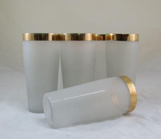 6 Copos Refresco Vidro Baço; Altura-15cm; Condição-perfeitos.