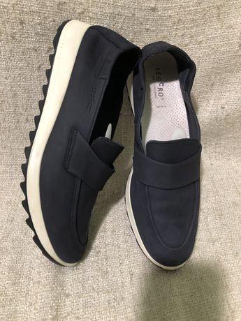 Коданые туфли мокасины лоферы Legero 43р ecco geox clarks
