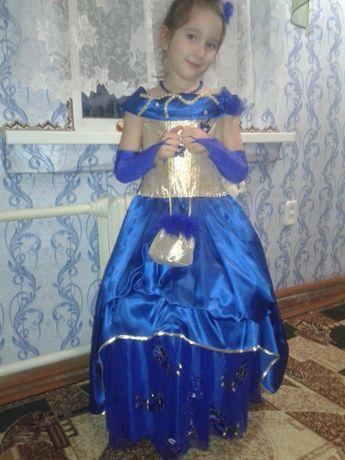 Карнавальное новогоднее платье. Р 128.