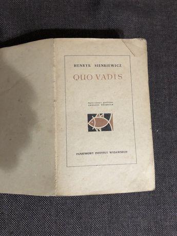 Stara książka Henryk Sienkiewicz Quo Vadis z 1961 rok