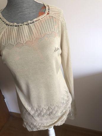 Sweterek bluzka Billabong 38 M koronka dzianina