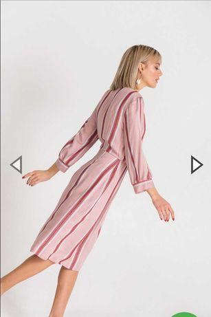 Фрезово-пудрова сукня
