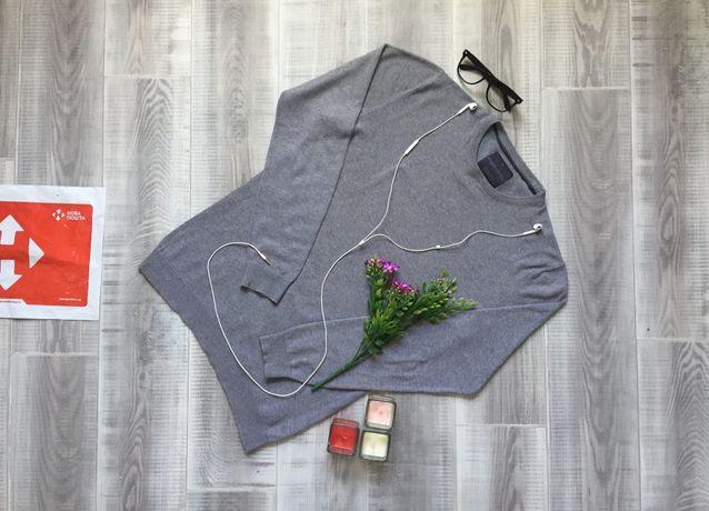 Свитер серый Angelo, размер S M, тёплый котон шерсть кофта худи