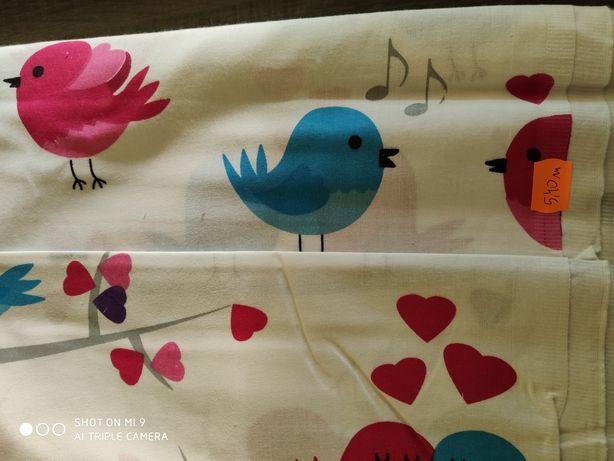 Bawełna pościelowa ptaszki.