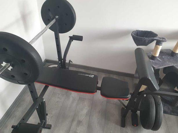 Zestaw do ćwiczeń ławka, gryf i obciążenie 60kg