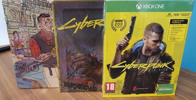Cyberpunk 2077 + dwa kolekcjonerskie steelbooki