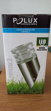 Nowa lampa zewnętrzna LED Crystal 2 POLUX (kinkiet skośny)