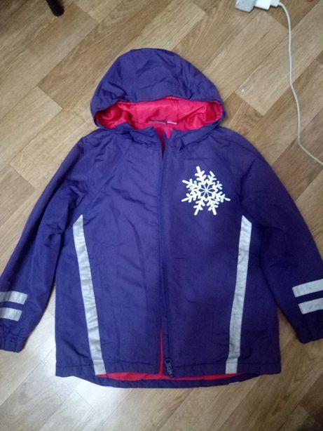 Термокуртка на девочку 6-7 лет