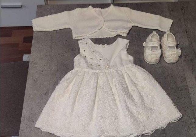 Ubranko do chrztu dla dziewczynki 80cm