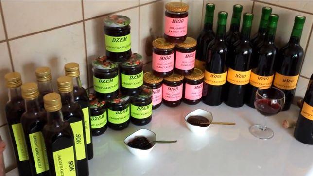 Soki dźemy z jagody kamczackiej i truskawki ekologiczne
