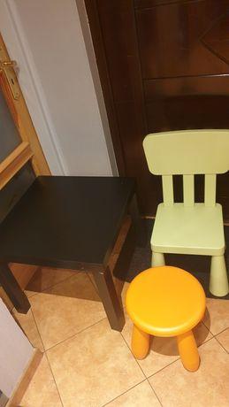 Stolik, krzesełko, taboret ikea  dla dziecka