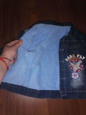 Вещи 92 р. 98 р. Тёплые джинсы, куртка, пакет вещей