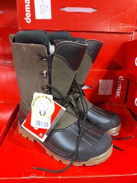 Для охоты Кожа обувь Demar Caribou PRO 3816 зимние сапоги Польша Демар