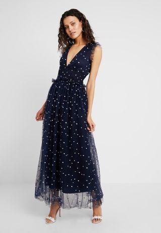 Sukienka granatowa ZALANDO groszki. Stan idealny.