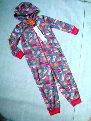 Теплая флисовая пижама комбинезон от Gymboree США на 3-4 г р. 4Т