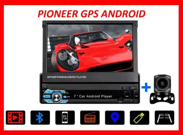 Магнитола Pioneer 9601A GPS Андроид 1/16 ГБ с выдвижным экраном камера
