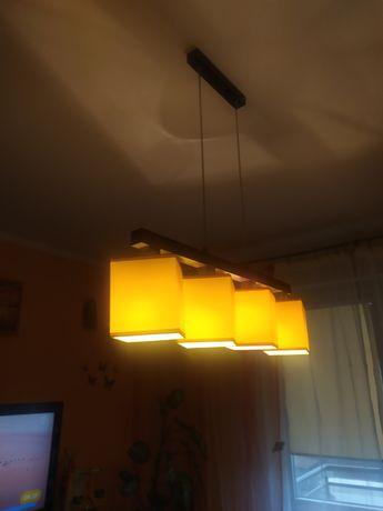 Lampa sufitowa z 3 żarówkami LED jedna zwykła