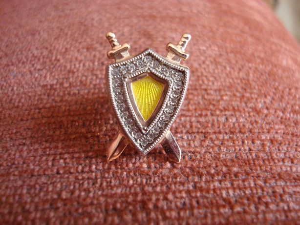 Значок на пиджак золото 585. Прокуратура